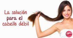 La solución definitiva para el cabello débil