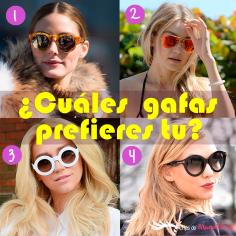 Gafas de sol: No pueden faltar en tu look diario.